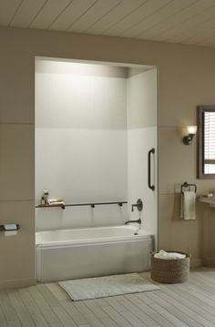 Place Choreograph shower barres wherever it's most convenient for your bathing or showering routine.