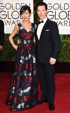 Sophie Hunter and Benedict Cumberbatch #GoldenGlobes #EWGlobes