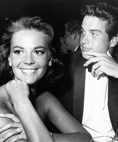 Natalie Wood and Warren Beatty...don't you get the feeling that Warren is checking out another woman across the room?  would you be surprised?