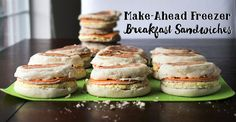 Need a quick breakfast idea for rushed mornings? These easy freezer breakfast sandwiches are super convenient to grab and go!