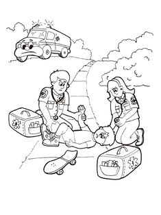 Hospital Coloring Pages 9 Health Activities, Activities For Kids, Medical Help, Teaching Kindergarten, Coloring Pages, Sick, Homeschool, Education, Comics