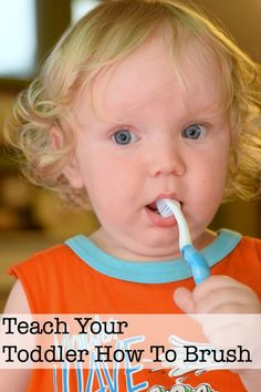 teach toddler to brush