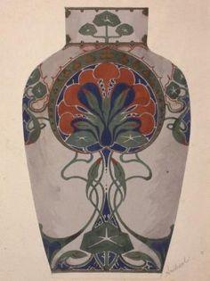 Design for a vase decoration [Indian Cress motif]