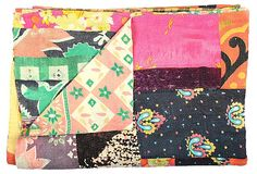 Kantha Handstitched Quilt, Wildthing on OneKingsLane.com