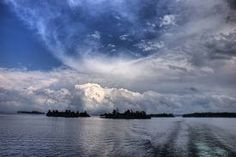 near the 1000 (thousand) Islands Saint Lawrence Seaway, Thousand Islands, Cruise Travel, Clouds, Entertaining, Luxury, Ms, Outdoor, Outdoors