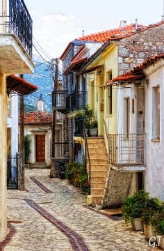 I could never live somewhere I could not paint my house a rainbow sherbet color.   Arahova, Greece