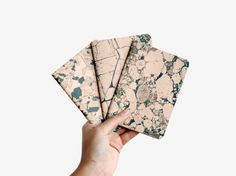Marble Stone lot of 3 notebooks  marbled rose and black by ARMINHO