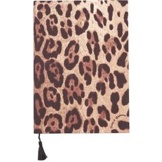 Dolce & Gabbana Medium Leopard Print Notebook ($100) ❤ liked on Polyvore featuring home, home decor and stationery
