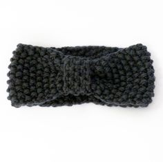 Moss stitch knitted turban knot headband | Miss Knit Nat