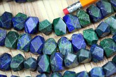 Natural Chrysocolla Faceted Nugget Beads Strand von MapleRanch