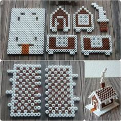 perler bead gingerbread house