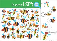 Find the Bees free, visual discrimination activity from the Brain Workouts Volume 1 packet from Growing Play. Visual Motor Activities, Visual Perceptual Activities, Counting Activities, Spring Activities, Therapy Activities, Bee Free, Pediatric Occupational Therapy, Hidden Pictures, Free Printables