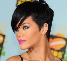 2016 Rihanna kısa saç modeli