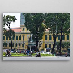 The Ho Chi Minh City Post Office, or the Saigon Central Post Office is a post office in the downtown Ho Chi Minh City, near Saigon Notre-Dame. Office Safe, Well Thought Out, Ho Chi Minh City, Post Office, Print Artist, New Artists, Travel Posters, Cool Artwork, Trees To Plant