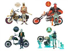 Four Horsemen of the Apocalypse by on DeviantArt Character Concept, Concept Art, Character Design, Four Horsemen Of The Apocalypse Tattoo, Les Quatre Cavaliers, Apocalypse Character, Animated Cartoon Characters, Angels And Demons, Cartoon Drawings