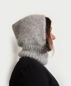 Drops Alpaca, Alpaca Wool, Knitted Balaclava, Knitted Hats, Knitting Patterns Free, Free Knitting, Minimalist Street Style, I Cord, Hoodie Pattern