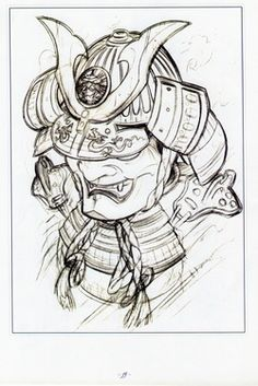 """Mascara Samurai - """"Os quatro G's Giri significa 'obrigação, dever, justiça' e um forte laço que une as pessoas. Gisei exprime 'sacrifício' e representa a dedicação ao trabalho. Gaman quer dizer 'tolerância, perseverança, resistência', é aguentar o que às vezes pode parecer insuportável. Gambaru exprime 'esforço, persistência', a capacidade de se envolver de forma profunda e determinada, manter-se firme e forte."""""""