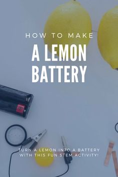 This is a such a great STEM activity to try out with your kids. Turn a lemon into a battery in a couple of easy steps. Steam Activities, Toddler Activities, Learning Activities, Easy Crafts For Kids, Toddler Crafts, How To Start Homeschooling, Tot School, Homeschool Curriculum