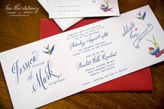 Nautical  Swallow Tattoo Style Wedding by TheBestDIYInvites, $150.00