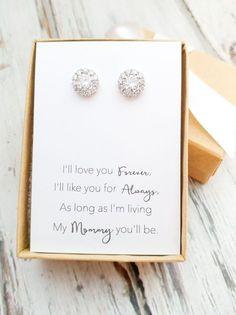 Get mothers birthstone for earrings (Opal)
