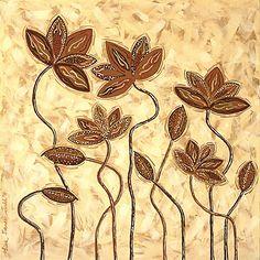 Earth Blooms - abstract floral artwork by Lisa Frances Judd ~ Original Australian Art