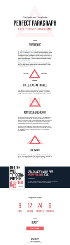Better Web Type - The Equilateral Triangle of a Perfect Paragraph