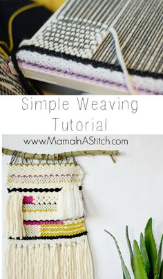 Learn to weave with this simple tutorial by Mama in a Stitch! Get started with Lion Brand's Martha Stewart Crafts DIY Weaver!