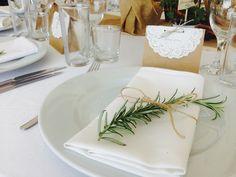 wedding table set rosemary