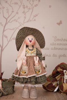 Fabric Dolls, Hare, Holiday Crafts, Doll Clothes, Bunny, Crochet Hats, Teddy Bear, Easter, Toys