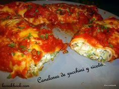 Canelones de zucchini y ricota | Le Cookbook