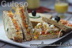 O Sanduíche Integral com Frango é perfeito como refeição leve, é natural, super saboroso e mega nutritivo!  #Receita aqui: http://www.gulosoesaudavel.com.br/2014/05/29/sanduiche-integral-frango/