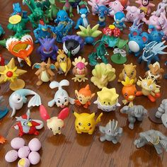 24pcs Pokemon Go Monster Mini Figures Cake Toppers Party Favors, Pikachu RANDOM…