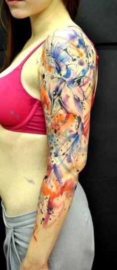 Watercolor Shapes. Bird