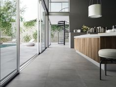 Porcelain stoneware wall/floor tiles with marble effect WIDE by Ceramiche Refin Grey Floor Tiles, Grey Flooring, Wall And Floor Tiles, Kitchen Flooring, Concrete Kitchen Floor, Cement Floors, Concrete Floors In House, Modern Floor Tiles, Plywood Floors