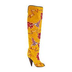 Tom Ford Hummingbird & Floral Fully Embroidered Over-the-Knee Boots   From a collection of rare vintage boots at https://www.1stdibs.com/fashion/clothing/shoes/boots/