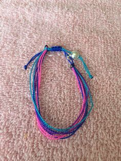 Take me back to the beach II friendship bracelet