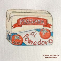 Food illustration - Passata by Alison Day