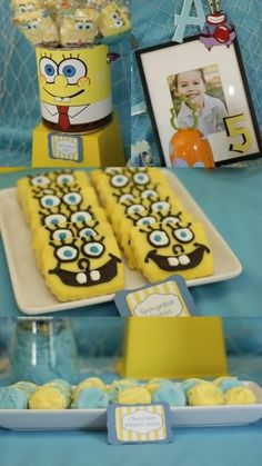 spongebob party, not sure if I will do it for Nolan's 1st or 2nd birthday yet