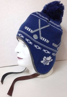 d99beab553480d Details about Toronto Maple Leafs Cap Hat NHL Hockey New Era Beanie Toque  OSFM Circle Knit Pom