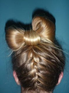 Braid up the back into a bow!