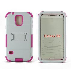Pink Armor Heavy Duty Double Layer Shockproof Case Cover For Samsung Galaxy S5 #Unbranded