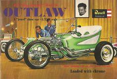 Revell Outlaw Ed 'Big Daddy' Roth's 'Jewel' Show Car, plastic model kit Model Cars Kits, Kit Cars, Car Kits, Vintage Models, Old Models, Vintage Toys, Revell Model Kits, Model Cars Building, Old Hot Rods