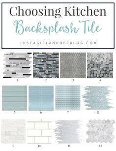 Choosing Kitchen Backsplash Tile   JustAGirlAndHerBlog.com