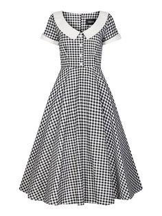 334dddd8f7e1 Collectif Mainline Madeline Gingham Swing Dress Korte Kjoler