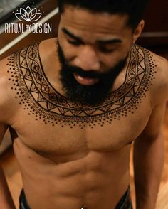 """""""Menna"""" Trend Has Men Wearing Beautifully Complex Henna Designs All Over Their…"""