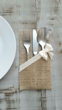 Items similar to Burlap Silverware Holder - Burlap Cutlery Pocket - Burlap Cutlery Sleeve - Rustic Wedding Table Decor - Flatware Holder - Choose Qty on Etsy Burlap Silverware Holder Burlap Cutlery by AJRUSTICCREATIONS Burlap Silverware Holder, Cutlery Holder, Burlap Wedding Decorations, Table Decorations, Burlap Crafts, Diy And Crafts, Christmas Crafts, Sewing Projects, Napkins