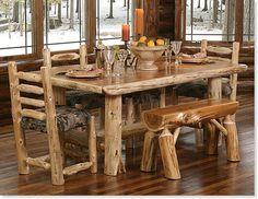 Our kitchen table the benches will be different and have the camo covers too and we will have two benches not one