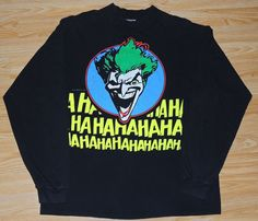 9c177c68aec8 1989 THE JOKER THE KILLING JOKE DC COMICS Long Sleeve T-Shirt SIZE L TRUE  VTG  fashion  clothing  shoes  accessories  vintage  mensvintageclothing  (ebay ...