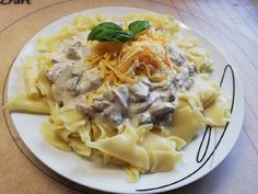 Gombás tészta a magam módján :) Meat, Chicken, Food, Mushrooms, Essen, Meals, Yemek, Eten, Cubs