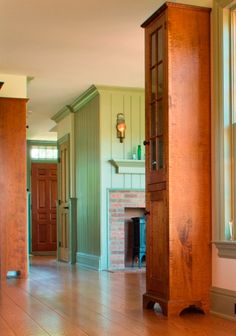 Painted Pine paneling